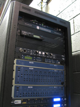 Aviom rack installation for Thomas Jefferson Independent Day School